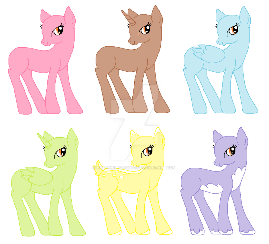 My Little Pony Hair Colours