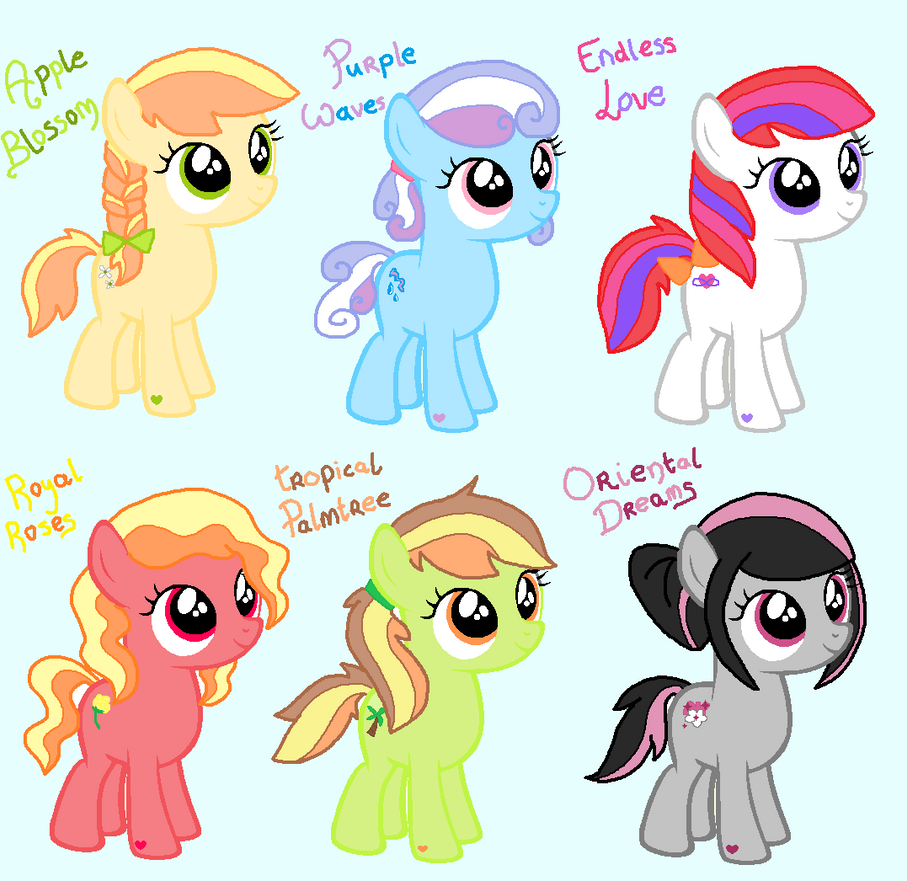 Cute Hairstyle Filly Adopts Closed By Happyhippoadopts