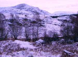 Hills with snow