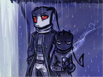 daily doodles 2: rainy mornings by Murd3r3r