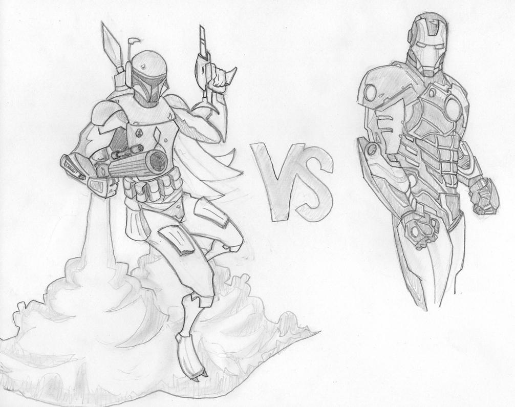Boba Fett vs Iron-man by stipher30 on deviantART