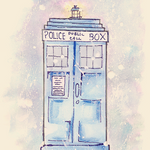 Water color tardis by milkiestars