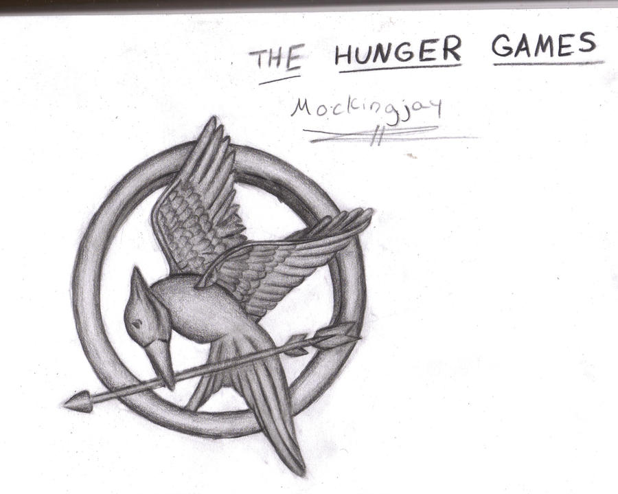 how to draw the mockingjay pin