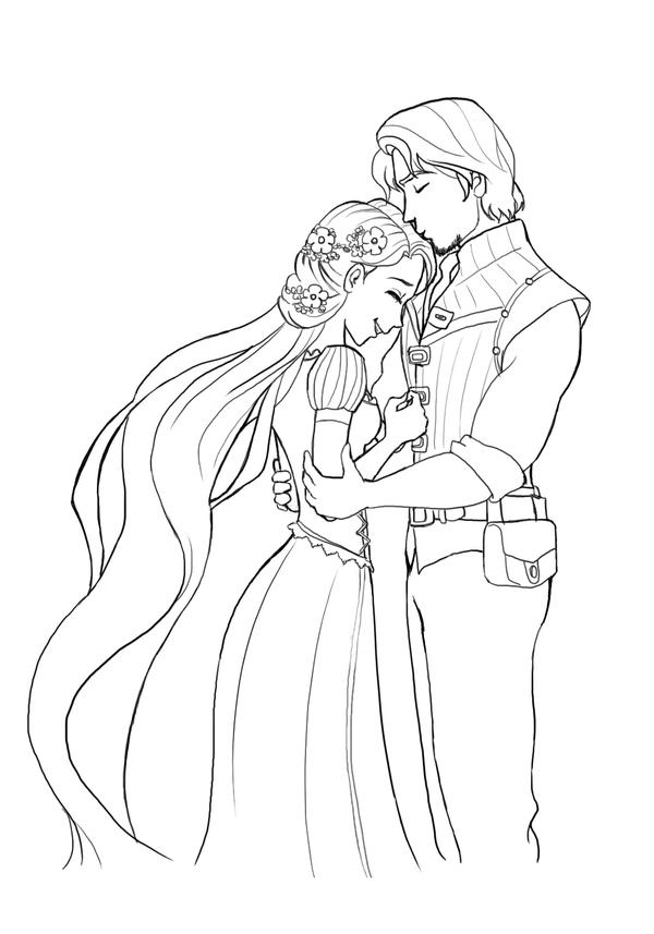 Rapunzel and Flynn by lamch0pz on DeviantArt