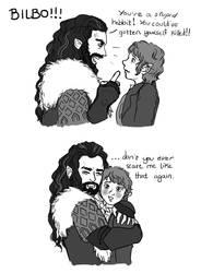 Thorin x Bilbo by lamch0pz