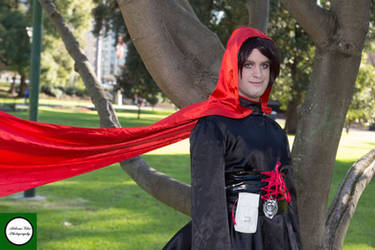 Red Hooded Huntress by mdarrer