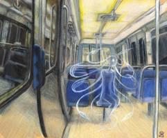 A spirit in the subway by JohannesVIII