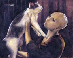 Dren and the cat, again