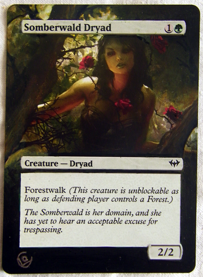 Altered card - Somberwald dryad by JohannesVIII