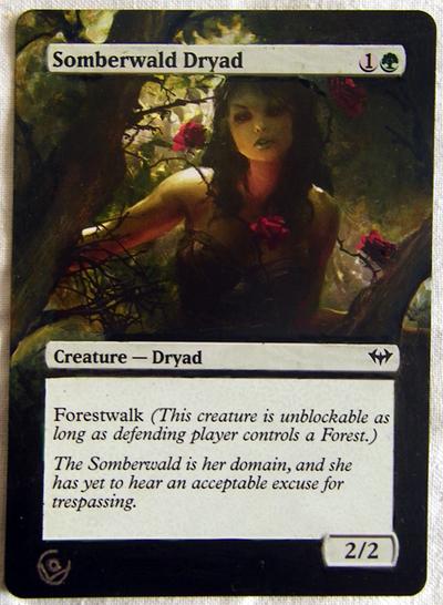 Altered card - Somberwald dryad by JohannesVIII