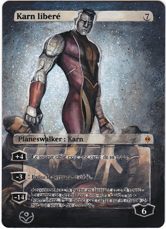 Altered card - Karn liberated X-men by JohannesVIII