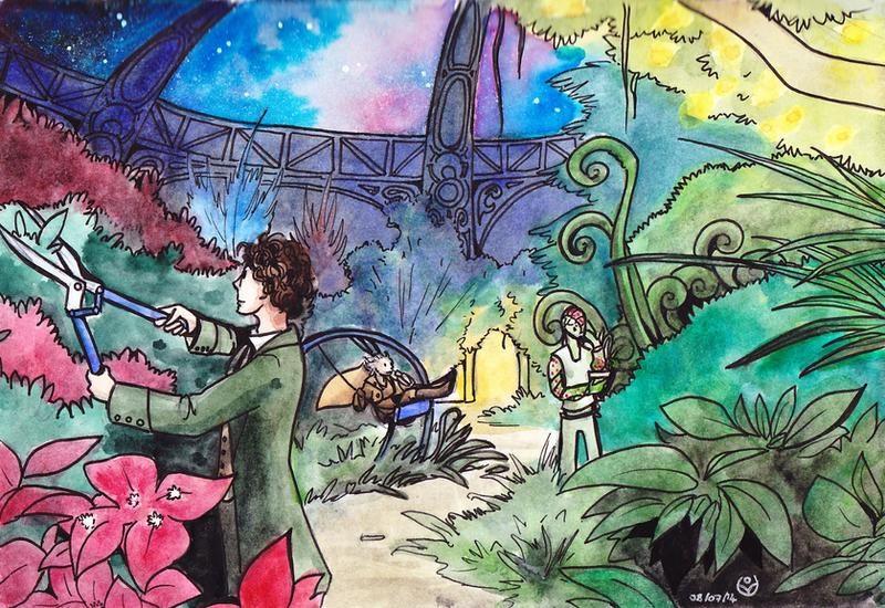 TARDIS garden by JohannesVIII