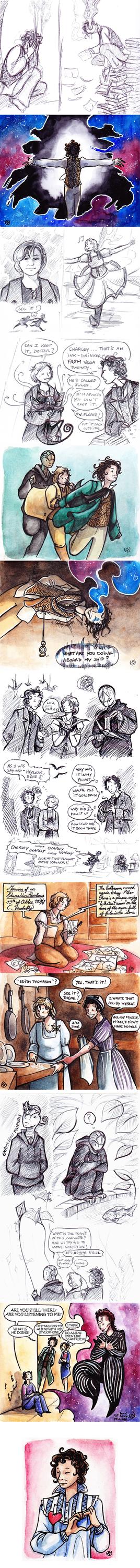 Big Finish Doctor Who sketchdump 7 by JohannesVIII