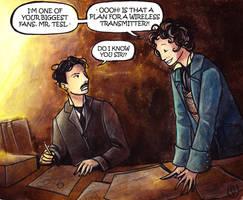 Eight meets Nikola Tesla by JohannesVIII