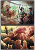 The Lion Beaten by the Man by JohannesVIII