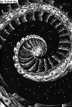 Inktober - Space Travelers - 28/31