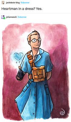 Heartman in a dress