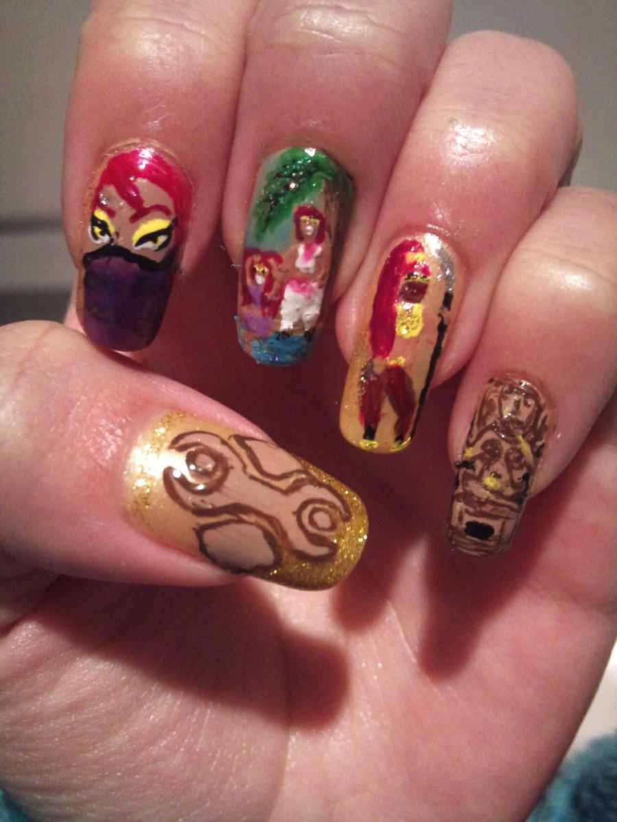 gerudo nail art by amanda04