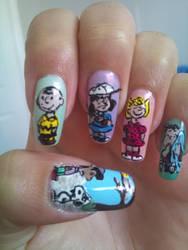 Peanuts nail art by amanda04