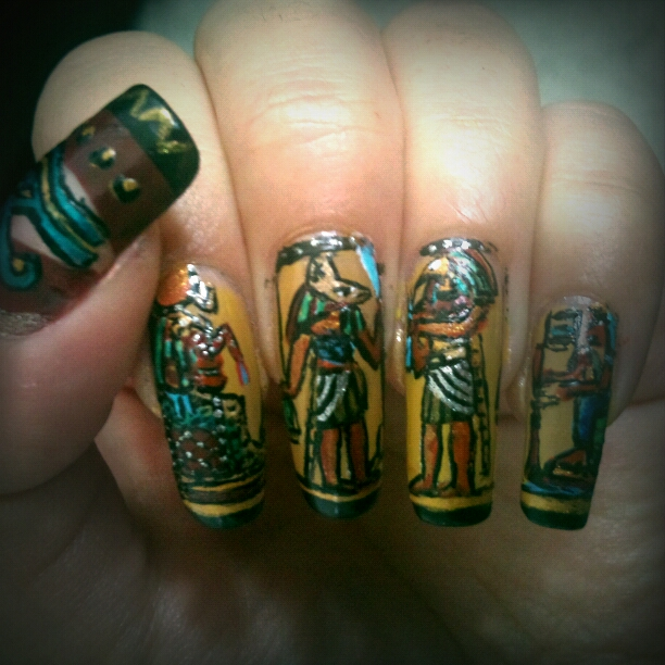 Egyptian nail art by amanda04 ... - Egyptian Nail Art By Amanda04 On DeviantArt