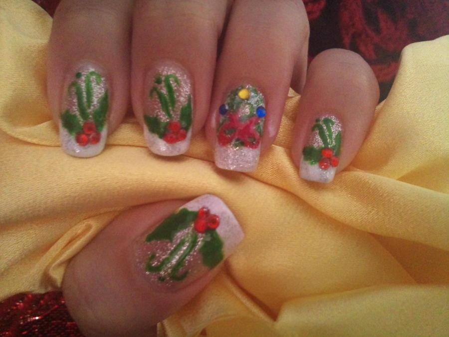Christmas nail design 4 by amanda04 on DeviantArt