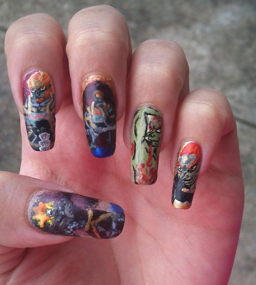 Demon King Ganondorf nail art by amanda04