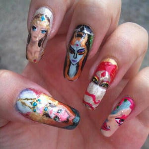 Zelda Royalty nail art