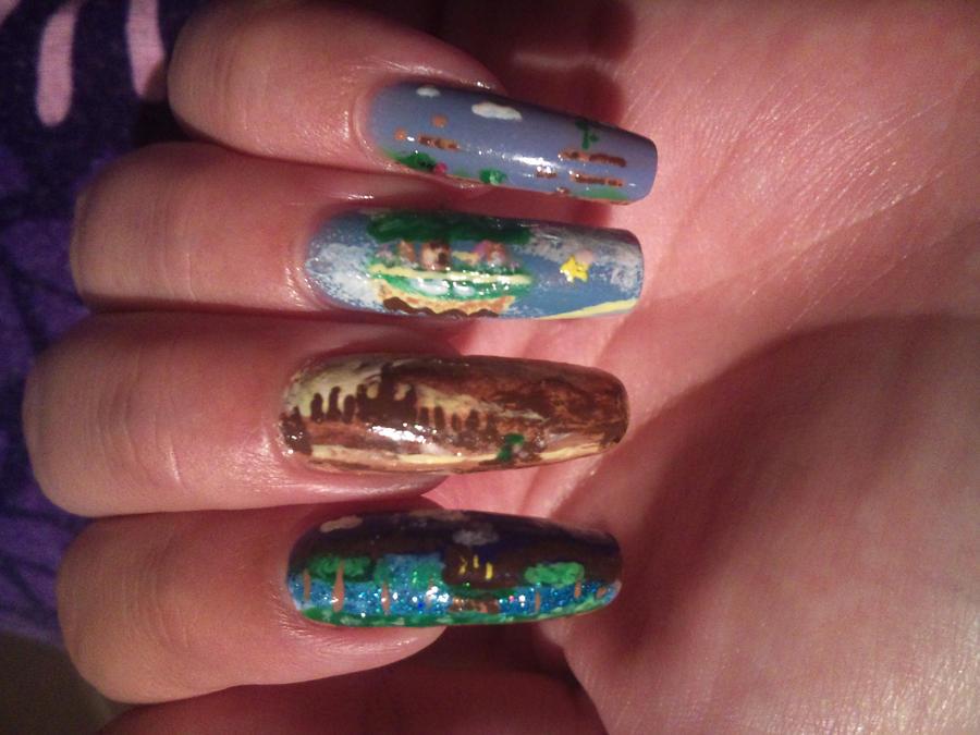Nintendo and a bit of sega nail art by amanda04 on DeviantArt