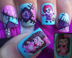 Voodoo dolls nail art by amanda04