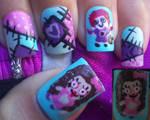 Voodoo dolls nail art