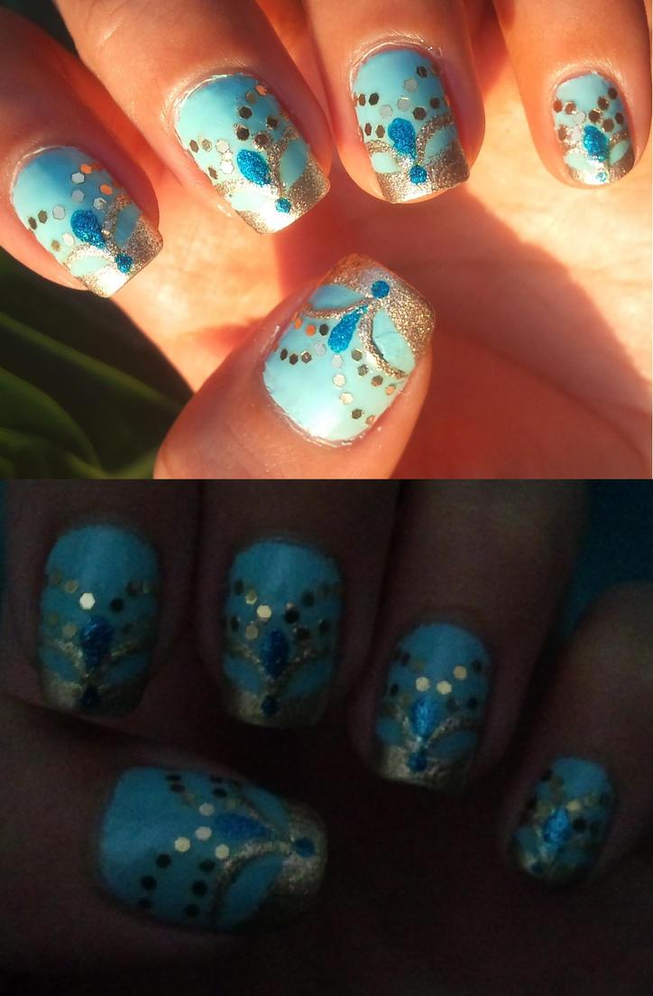 Princess Jasmine inspired nail art by amanda04