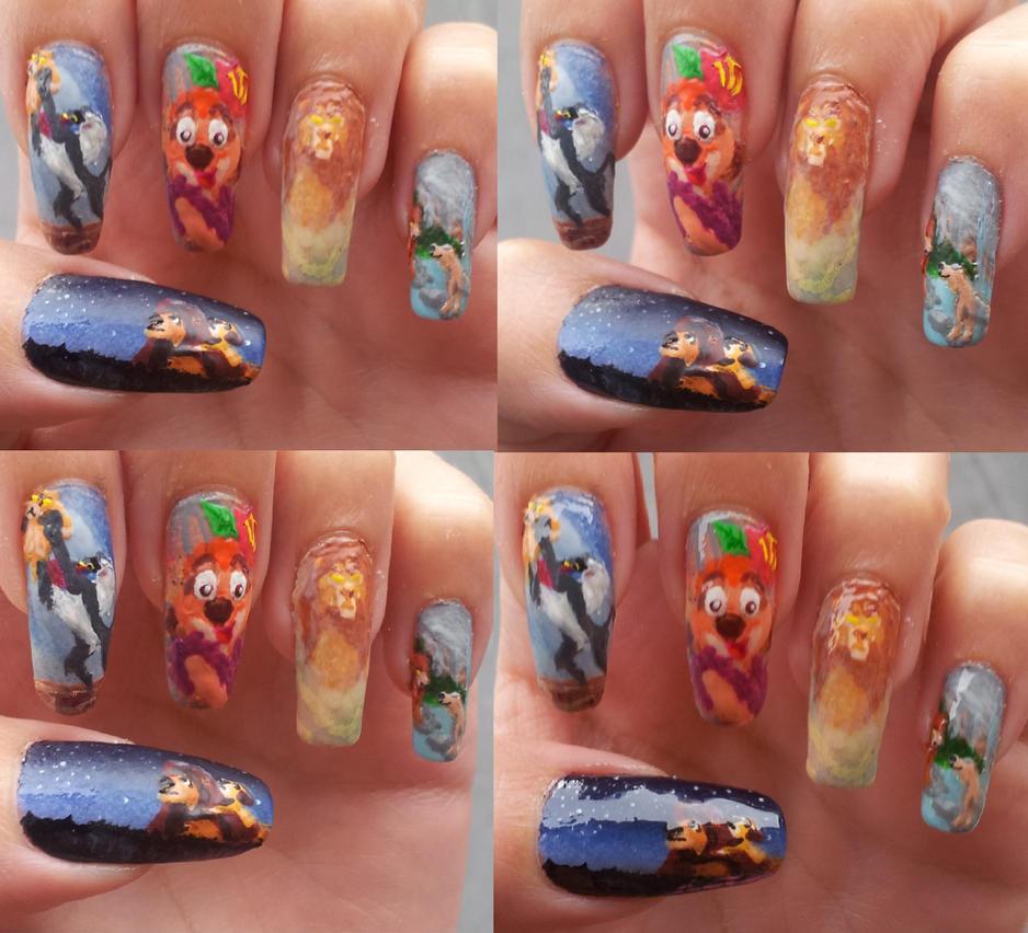 The Lion King nail art by amanda04 on DeviantArt