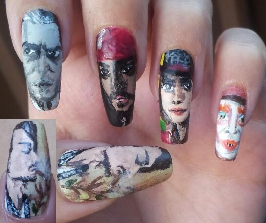 Johnny Depp Nail Art By Amanda04 On DeviantArt