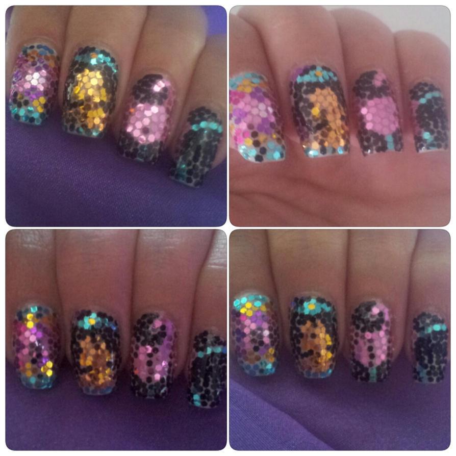 Princess Jasmine Nails: Princess Jasmine Glitter Nail Art By Amanda04 On DeviantART
