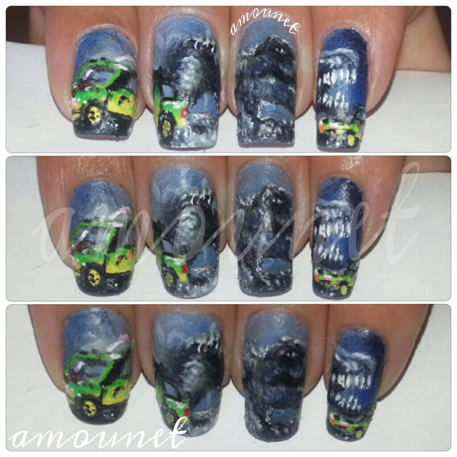 Jurassic Park nail art by amanda04 on DeviantArt