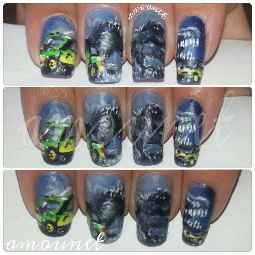 Jurassic Park nail art by amanda04