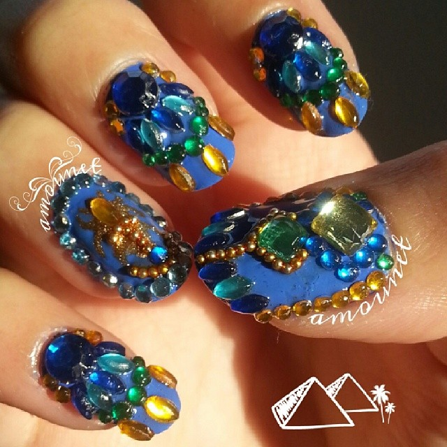 Ancient Egyptian Scarab nail art by amanda04 ... - Ancient Egyptian Scarab Nail Art By Amanda04 On DeviantArt