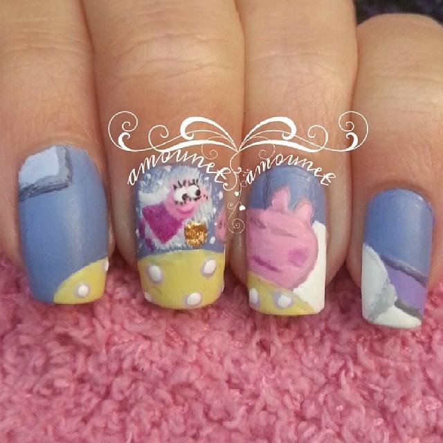 Peppa pig nail art by amanda04 ... - Peppa Pig Nail Art By Amanda04 On DeviantArt
