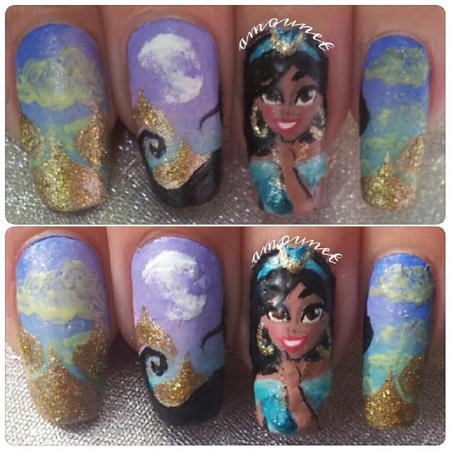 Princess Jasmine Nails: Princess Jasmine Nail Art By Amanda04 On DeviantArt