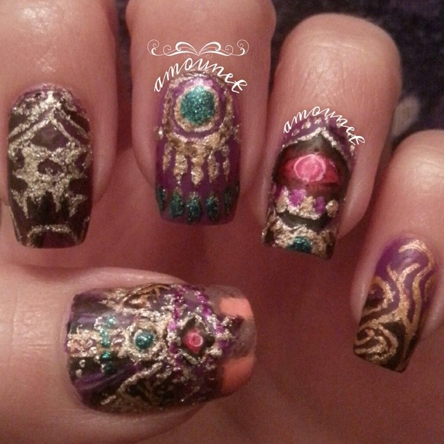 Hyrule Warriors - Wizro nail art by amanda04