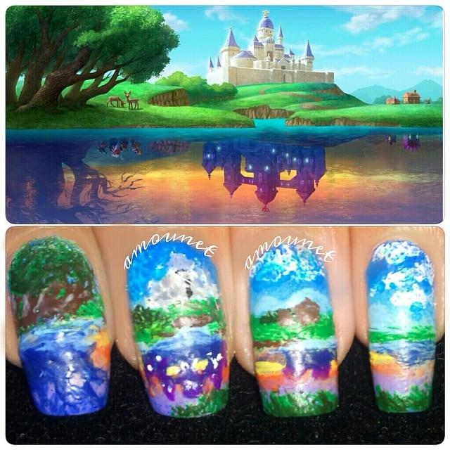 LoZ A Link Between Worlds nail art by amanda04