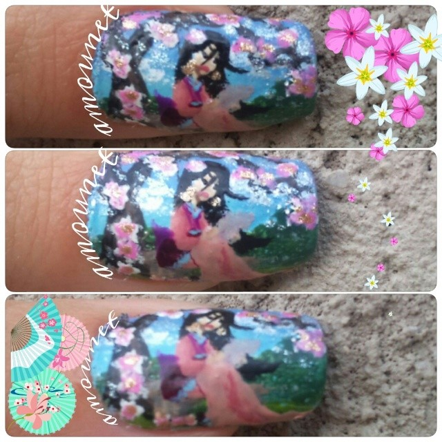 Disney Mulan nail art by amanda04