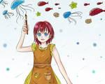 Painting Sea by YukiChanMadness