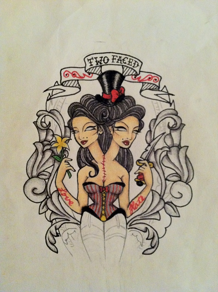 If you re going to have two faces all those small things for Two faced tattoo
