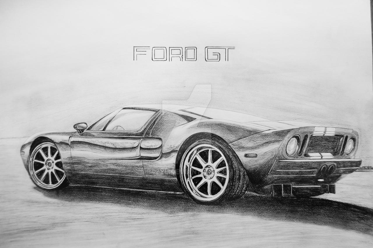 Draw Ford Gt Bazyl By Bzyl