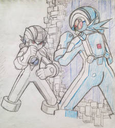 Dwabble: MegaMan and MegaManDS (2) by MidniteW