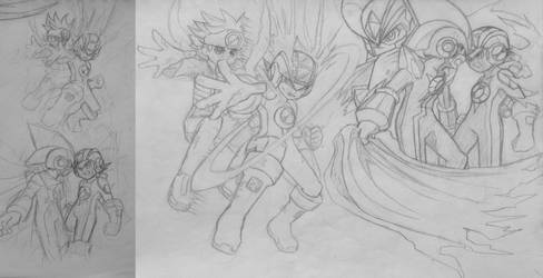 Dwabble: Mega Man NT Warrior Manga by MidniteW