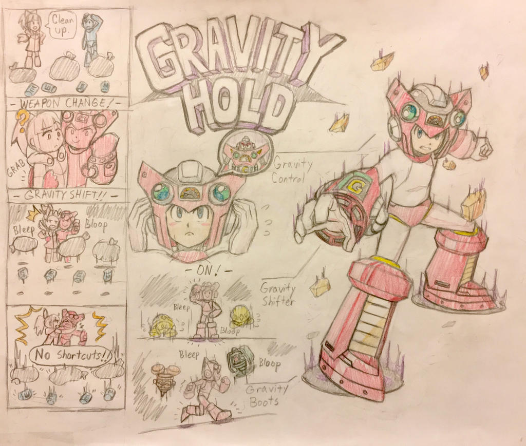 Gravity Hold - Mega Man 11 Style by MidniteW