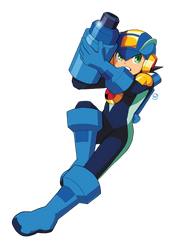 MegaMan.EXE Buster Action by MidniteW