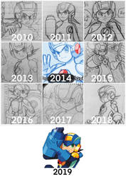 Drawing MegaMan.EXE (2010-2019)